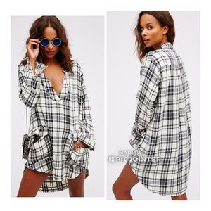 Free People X CP Shades Tunic Dress Checkmate
